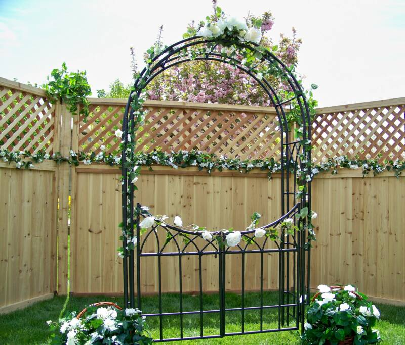Salt Lake Wedding Decorations Garden Arbor on Brown