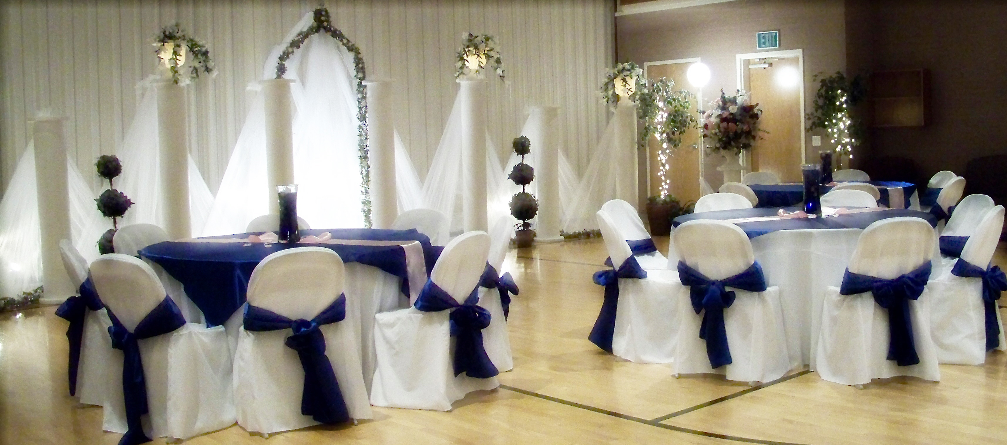 Linen rentals for Royal decoration