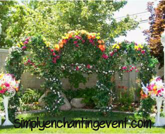 Wedding Decoration, Triple Black Iron Arch, Outdoor Decor