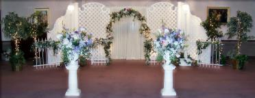 Salt Lake Wedding Decorations, Wrought Iron with upgrade lattice backdrop